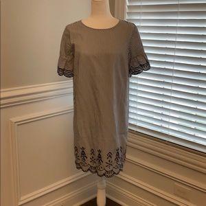 NWT Loft Petite Striped Dress Sz MP